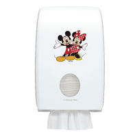 Aquarius Disney Folded Hand Towel Dispenser Mickey and Minnie Mouse (Pack of 1) 6855