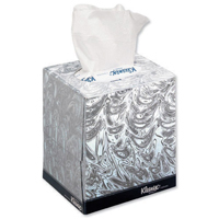 Kleenex Facial Tissues Cubes 8834 with Free Non-Alcohol Foam Sanitiser 50ml (Pack of 1) 8834