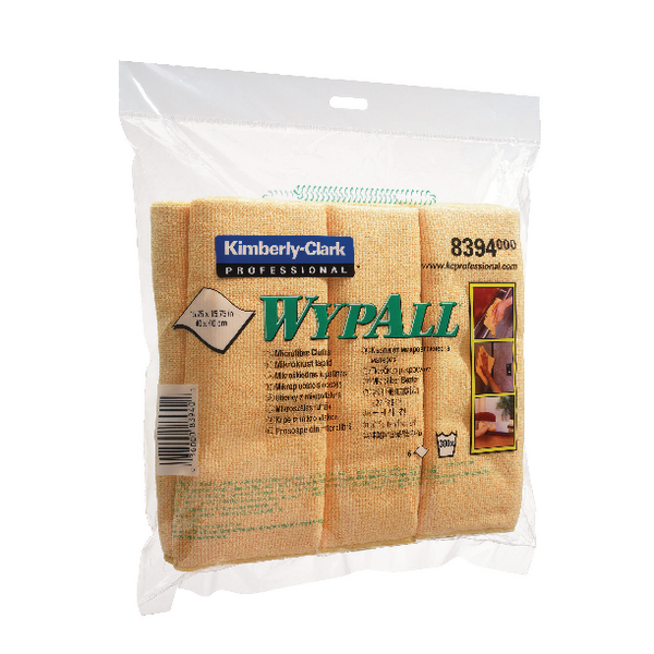 Wypall Yellow Microfibre Cloth (6 Pack) 8394