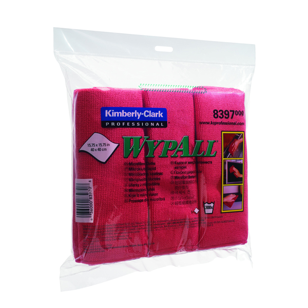 Wypall Red Microfibre Cloth (6 Pack) 8397