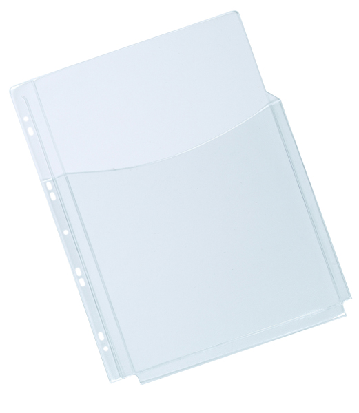 Q-Connect A4 3/4 Cover Expanding Punched Pocket (Pack of 5) KF00139