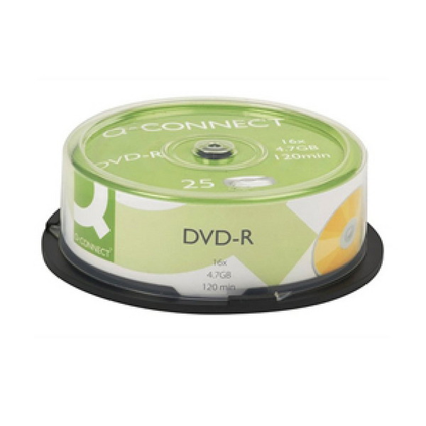 Image for Q-Connect DVD-R 4.7GB Cake Box (Pack of 25)
