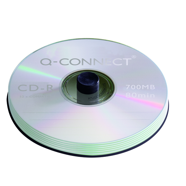 Image for Q-Connect CD-R 700MB/80minutes Spindle (Pack of 50)