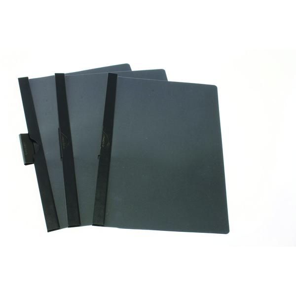 Q-Connect Black A4 Quickclip 6mm File (25 Pack) KF00465