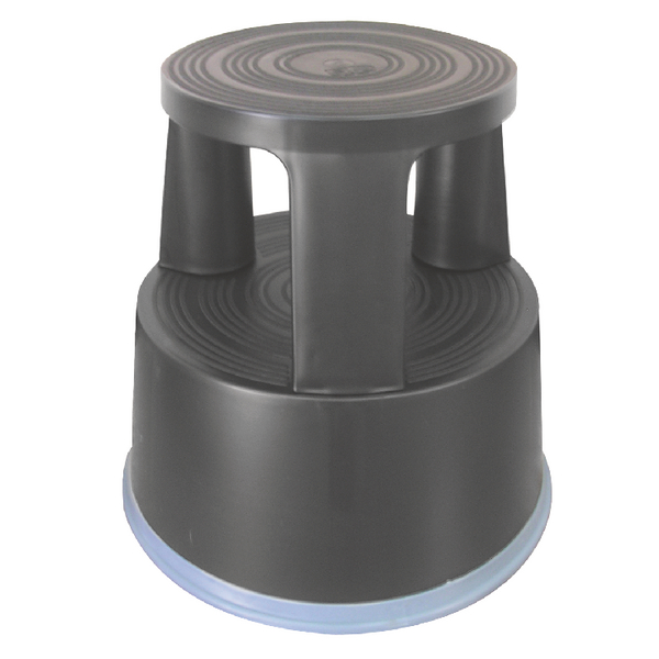 Q-Connect Plastic Step Stool Dark Grey KF00634
