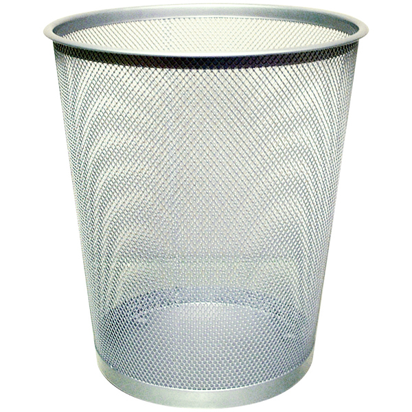 Image for Q-Connect Waste Basket Mesh 18 Litre Silver