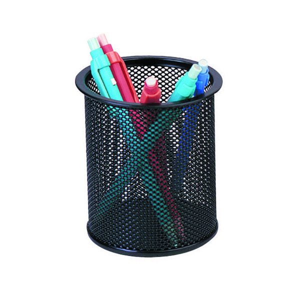 Q-Connect Mesh Black Pen Pot KF00864