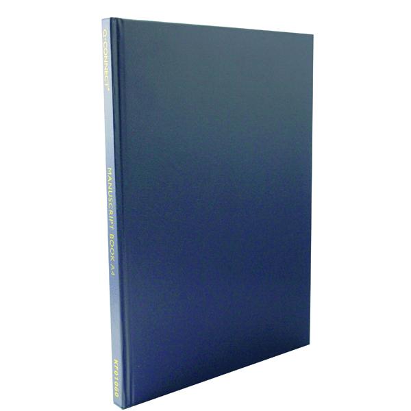 Q-Connect Manuscript A4 Book Ruled Feint 96 Leaf K00060