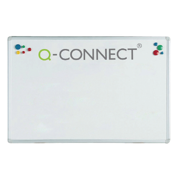 Q-Connect Aluminium 900x600mm Magnetic Whiteboard