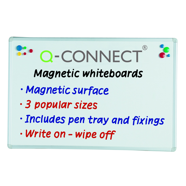 Q-Connect Aluminium Magnetic Whiteboard 1200x900mm 9700032