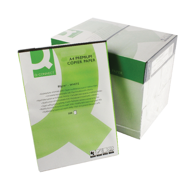 Q-Connect White A4 Premium Copier Paper (2500 Pack) KF01088A