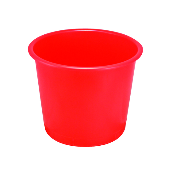 Image for Q-Connect Waste Bin 15 Litre Red CP025KFRED