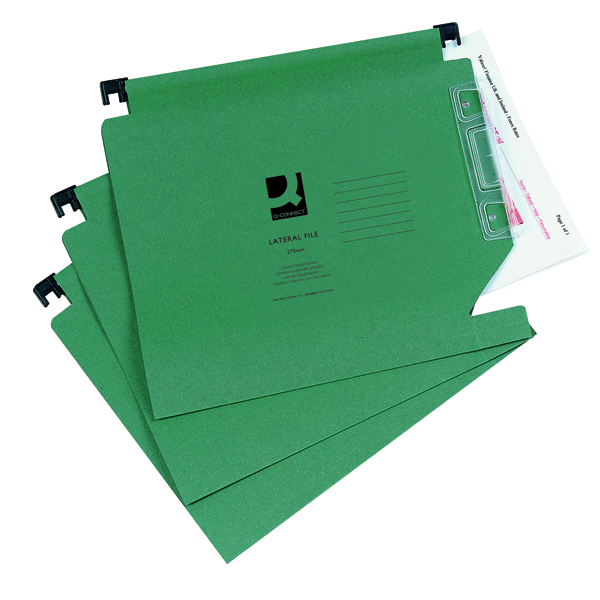 Q-Connect Green Manilla 275mm Lateral File (Pack of 25) KF01184