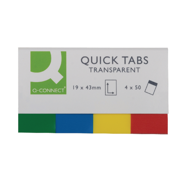 Q-Connect Quick Tabs 19x43 Transparent