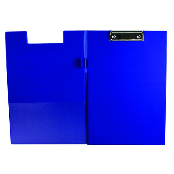Q-Connect Blue A4/Foolscap PVC Foldover Clipboard