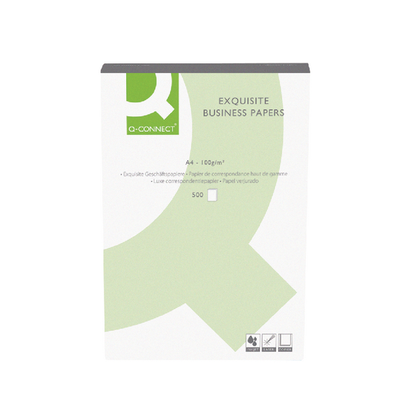 Image for Q-Connect Laid Antique Vellum A4 Business Paper 100gsm (Pack of 500)