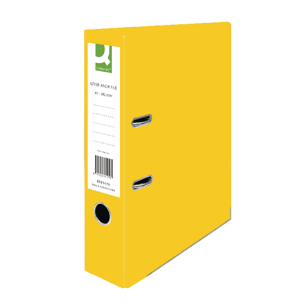 Q-Connect Yellow A4 Paperbacked Lever Arch File (Pack of 10)