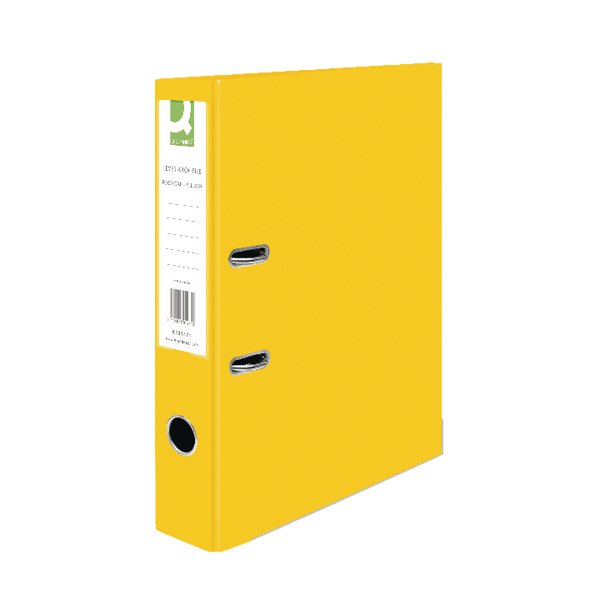 Q-Connect Yellow Foolscap Paperbacked Lever Arch File (Pack of 10)