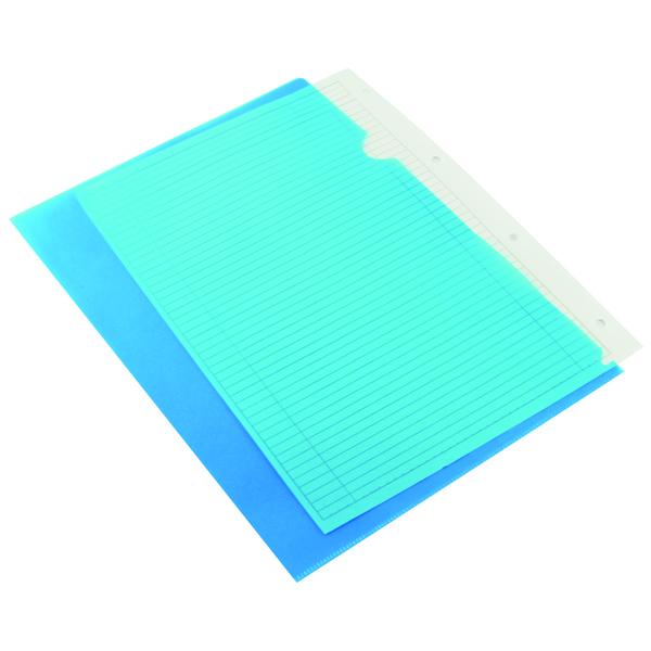 Q-Connect Blue Cut Flush A4 Folder (Pack of 100) KF01486