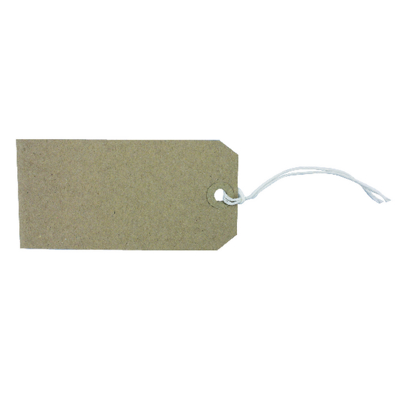 Strung Tag 120x60mm Buff (Pack of 1000)
