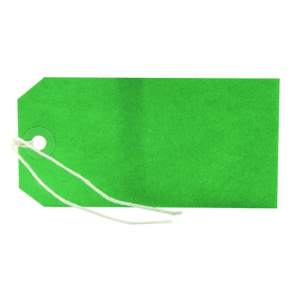 Green 120x60mm Strung Tag (1000 Pack) KF01624