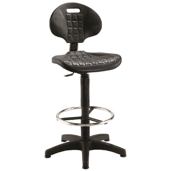 Jemini Draughtsman Black Chair