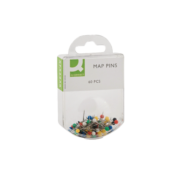 Q-Connect Assorted Map Pins (600 Pack) KF02030Q