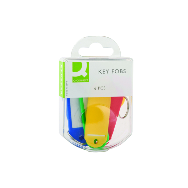 Q-Connect Key Fobs Assorted (6 Pack) KF02036Q