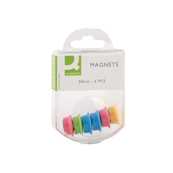Q-Connect Magnet 24mm Assorted (Pack of 60)