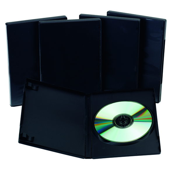 Q-Connect Black DVD Case - (5 Pack) KF02211