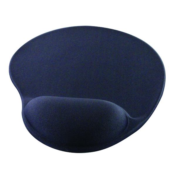 Q-Connect Black Gel Mouse Mat KF02213