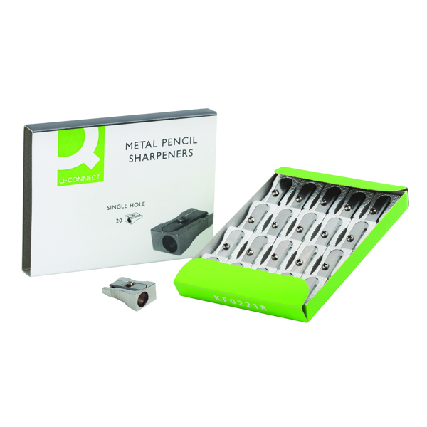 Q-Connect Metal Pencil Sharpener (Pack of 20) KF02218