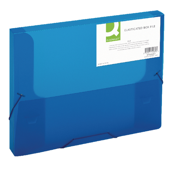 Q-Connect Elasticated Box File Blue