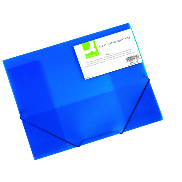 Q-Connect A4 Blue Elasticated Folder KF02312