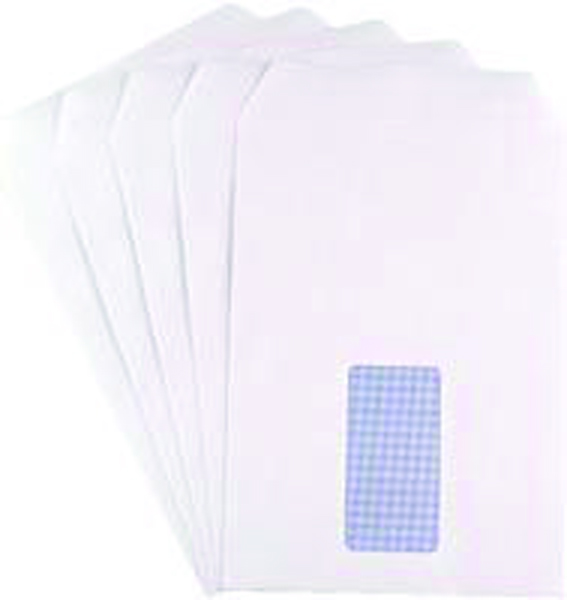 Q-Connect C5 Window Envelopes 90gsm Self Seal White (Pack of 500)