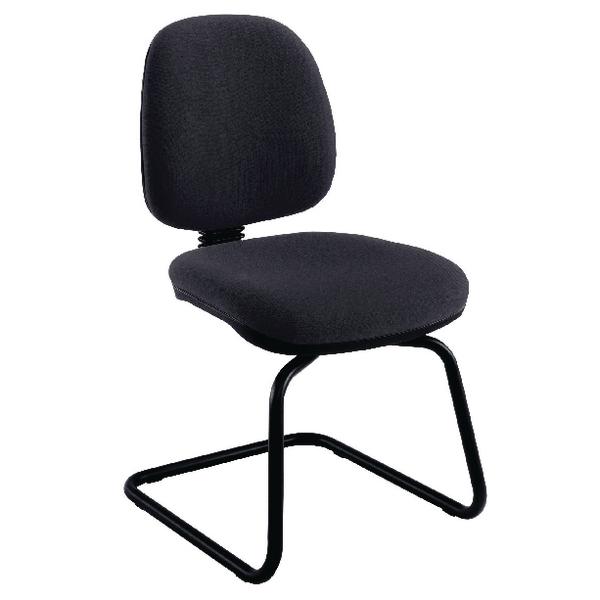Jemini Charcoal Medium Back Visitor Chair