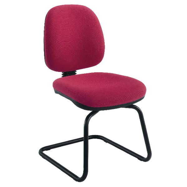 Jemini Medium Back Visitor Chair Claret