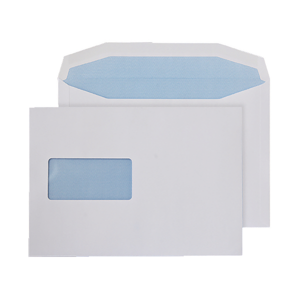 Q-Connect Machine Envelope 162x238mm Window 90gsm Gummed White Pack of 500