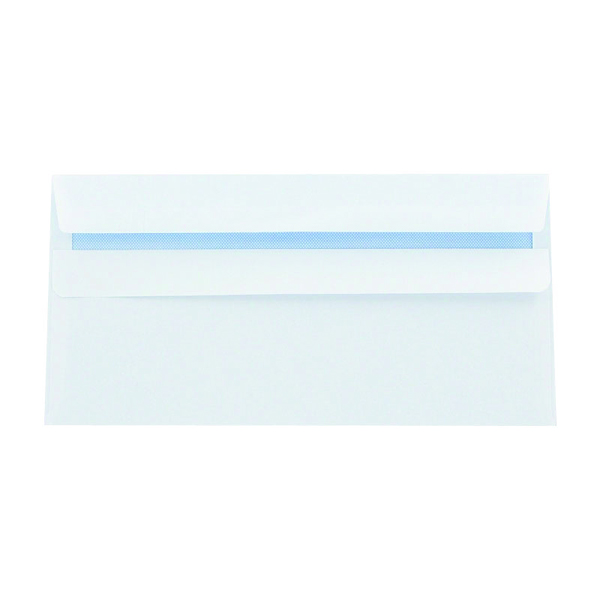 Q-Connect DL Envelopes 100gsm Plain Peel and Seal White (Pack of 500) 1P04