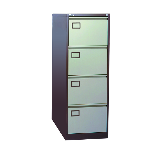 Image for Jemini 4-Drawer Filing Cabinet Coffee/Cream