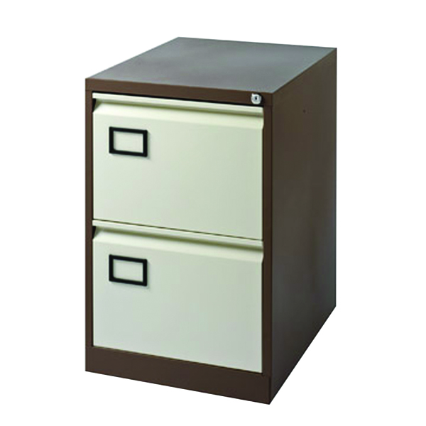 Image for Jemini 2-Drawer Filing Cabinet Coffee/Cream