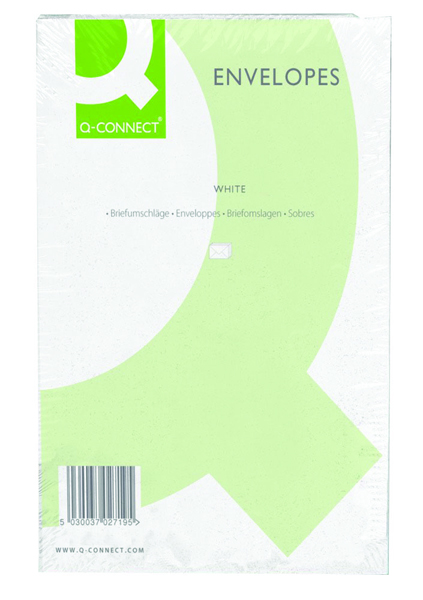 Q-Connect C4 Envelope 100gsm Plain Peel and Seal White (250 Pack) 1P27