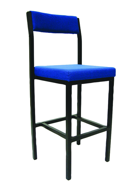 Jemini Blue Padded Seat High Stool