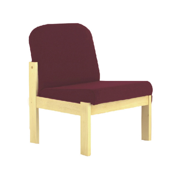 Arista Claret/Beech Veneer Reception Seat