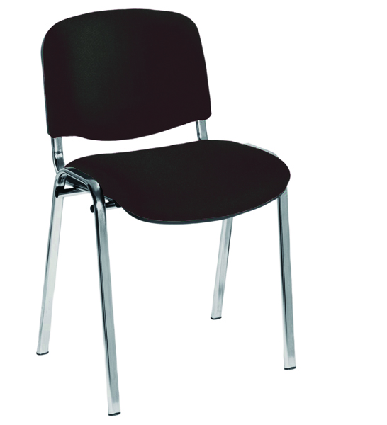 Jemini Ultra Charcoal/Chrome Stacking Chair