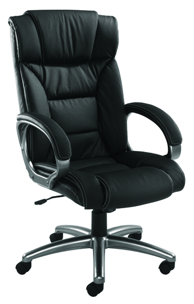 Arista Executive Leather faced Black Chair KF03437