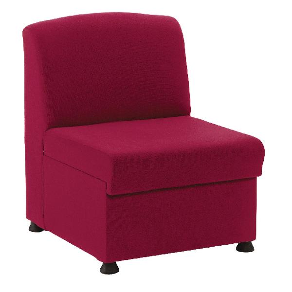 Arista Modular Reception Chair Claret