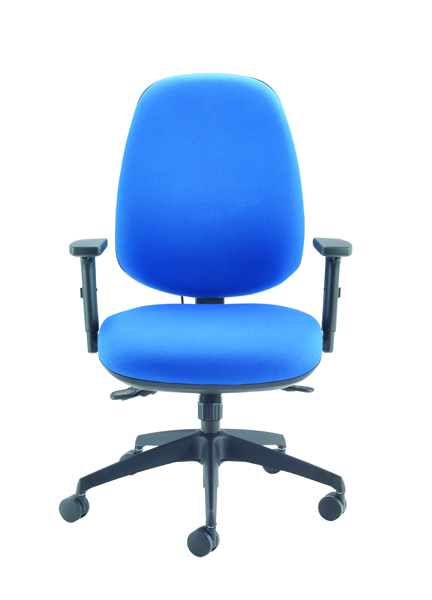 Cappela Rise High Back Posture Blue Chair
