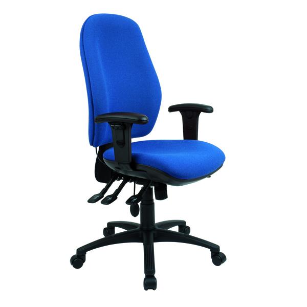 Cappela Radial High Back Posture Blue Chair