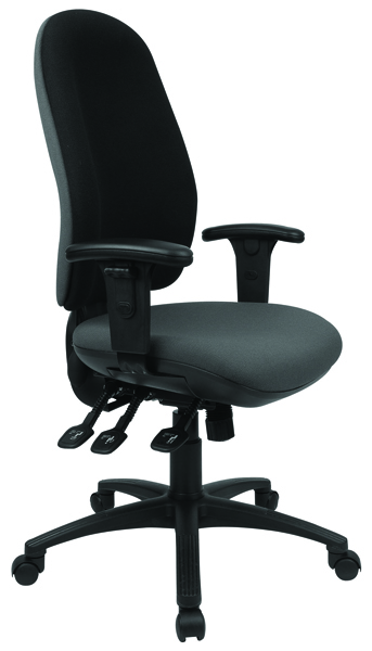 Cappela Radial High Back Posture Black Chair KF03499